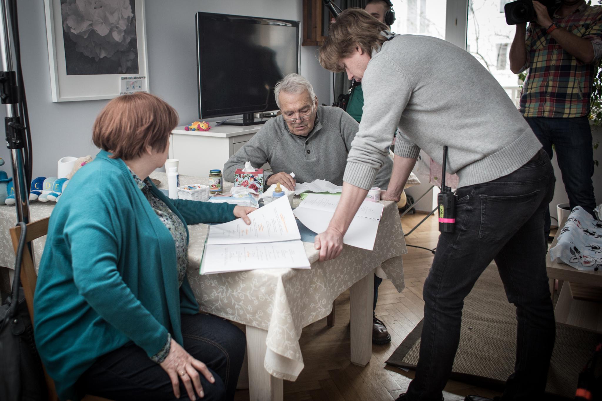Krystyna Tkacz, Zdzisław Warderjn i reżyser Tomasz Szafrański